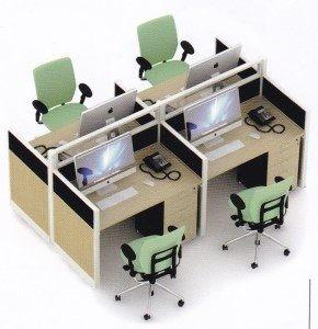 Partisi Kantor Uno 02 Series Slim 4 Staff