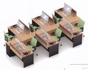Partisi Kantor Uno 08 Series Slim 6 Staff