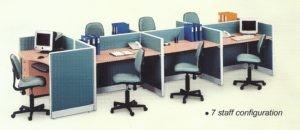 Partisi Kantor Uno 7 Staff