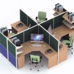 Partisi Kantor Uno 09 Series Premium 4 Staff  150x150 - UNO Office Partition
