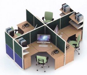 Partisi Kantor Uno 09 Series Premium 4 Staff