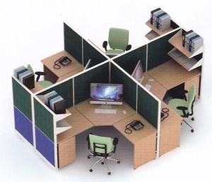 Partisi Kantor Uno 09 Series Premium 4 Staff  - Partisi Kantor Uno 09 Series Premium 4 Staff