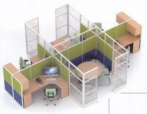 Partisi Kantor Uno 12 Series Premium 5 Staff Dan Meting