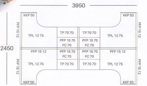 Partisi Kantor Uno 4 Staff L 300x176 - Partisi Kantor Uno Series Premium 4 Staff