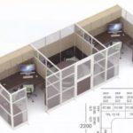 Partisi kantor uno 11 Series Premium 3 Staff 300x220 150x150 - UNO Office Partition