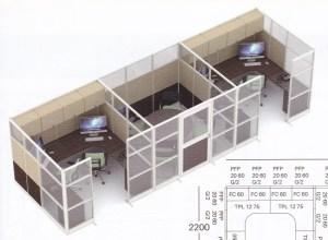 Partisi kantor uno 11 Series Premium 3 Staff 300x220 - Partisi Kantor Uno 11 Series Premium 2 Staff Dan Meting