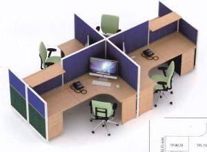 Partisi kantor uno 4 Staff 300x221 - Partisi Kantor Uno 08 Series Premium 4 Staff