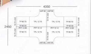 Partisi kantor uno 4 staff 08 300x179 - Partisi Kantor Uno 08 Series Premium 4 Staff