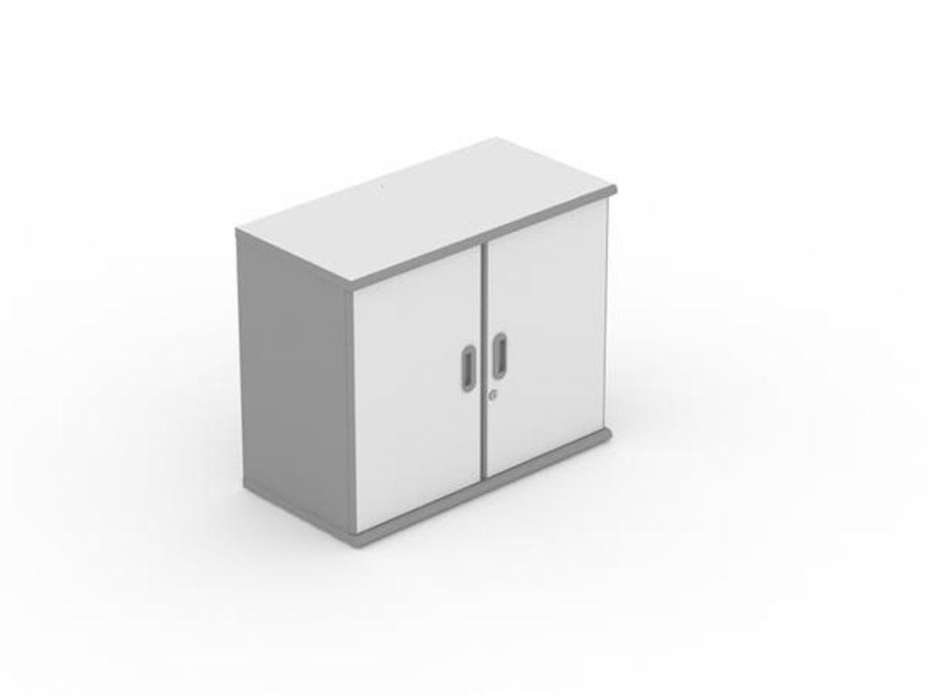 furnitur ruang kerja rumah uno classic series lemari arsip atas pendek 2 ruang pintu panel tanpa afron tipe ust 1388 a - Lemari Arsip Pendek Uno Classic UST 1388 A
