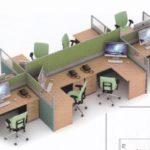 Partisi Kantor Uno 07 Series slim 8 Staff 300x203 150x150 - UNO Office Partition