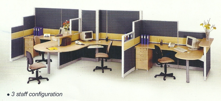 Partisi Kantor uno 3 staff - Partisi Kantor Uno 3 Staff