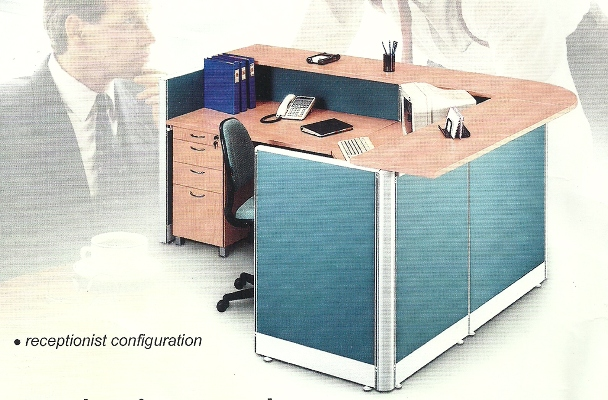 Partisi Kantor uno receptionis - Partisi Kantor Uno Receptionist