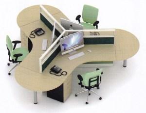 Partisi UNO 3 Staf 300x233 - Partisi Kantor Uno Series Premium 3 Staff